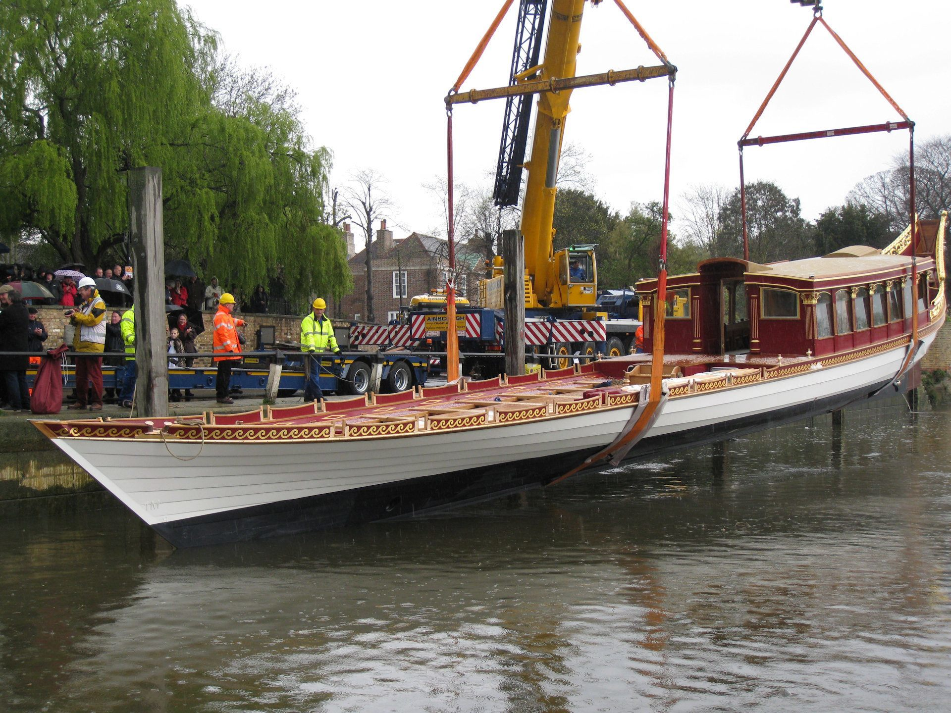 Gloriana getting wet!