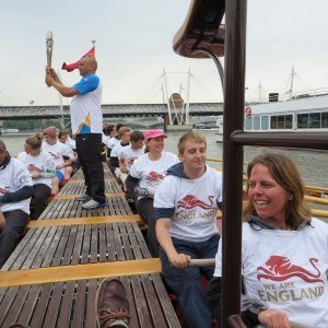 Queen's Commonwealth Baton Row