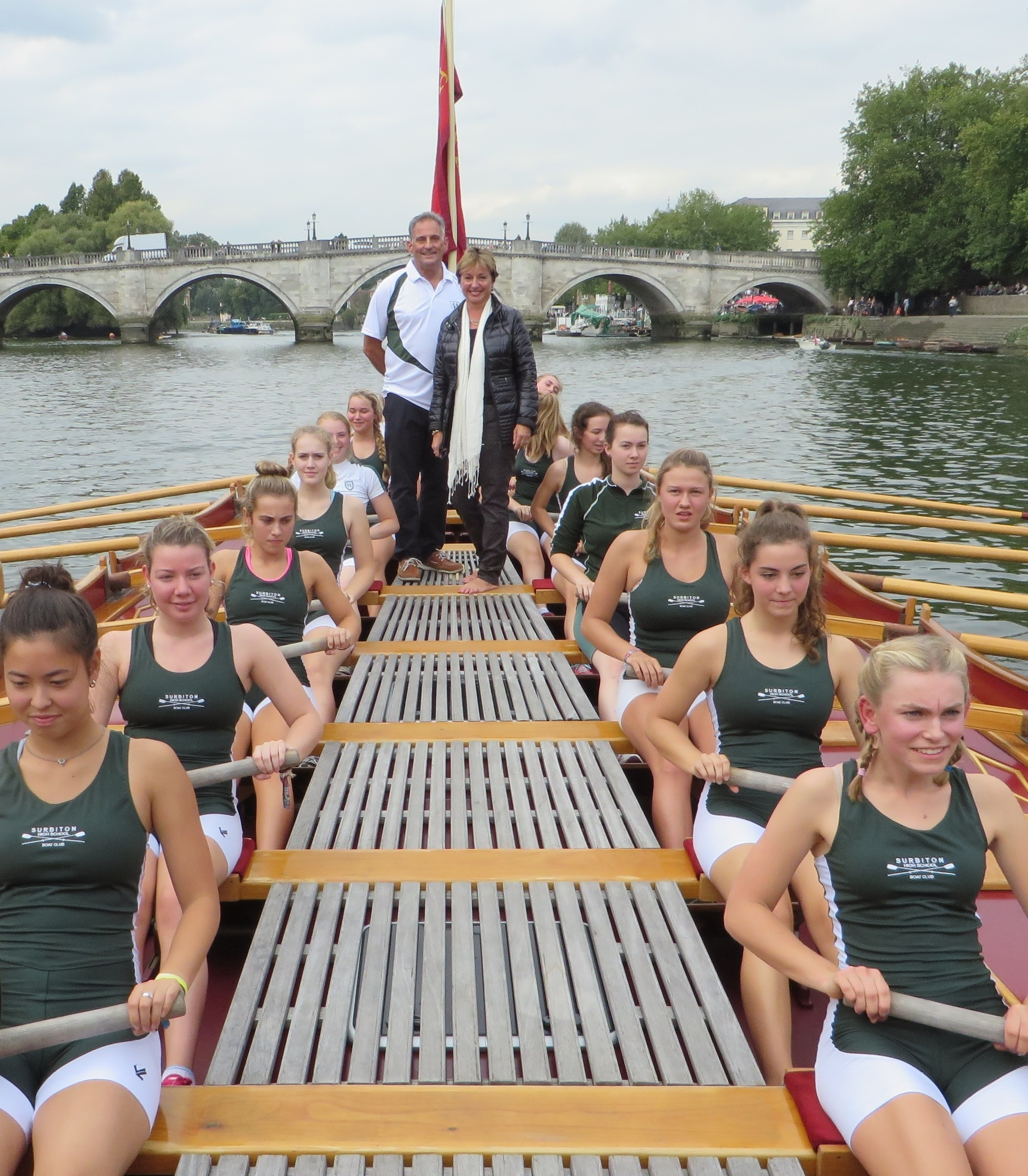 Surbiton High School crew, Coach and Headmistress