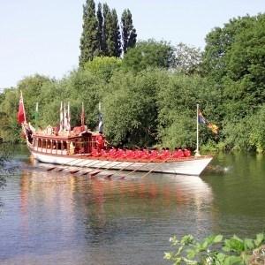 Gloriana on beautiful Thames as Windsor