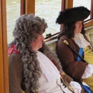 George I on his way to Hampton Court