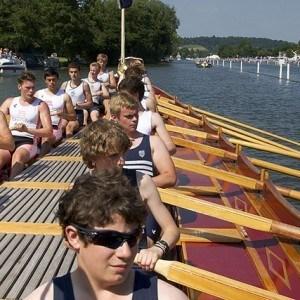 Gloriana being rowed at Henley Royal Regatta