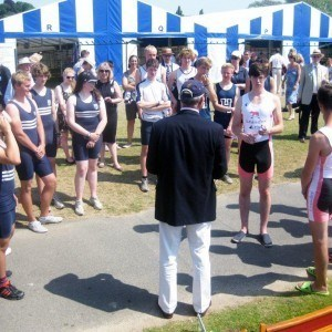 The lucky crew at the HRR boat tents