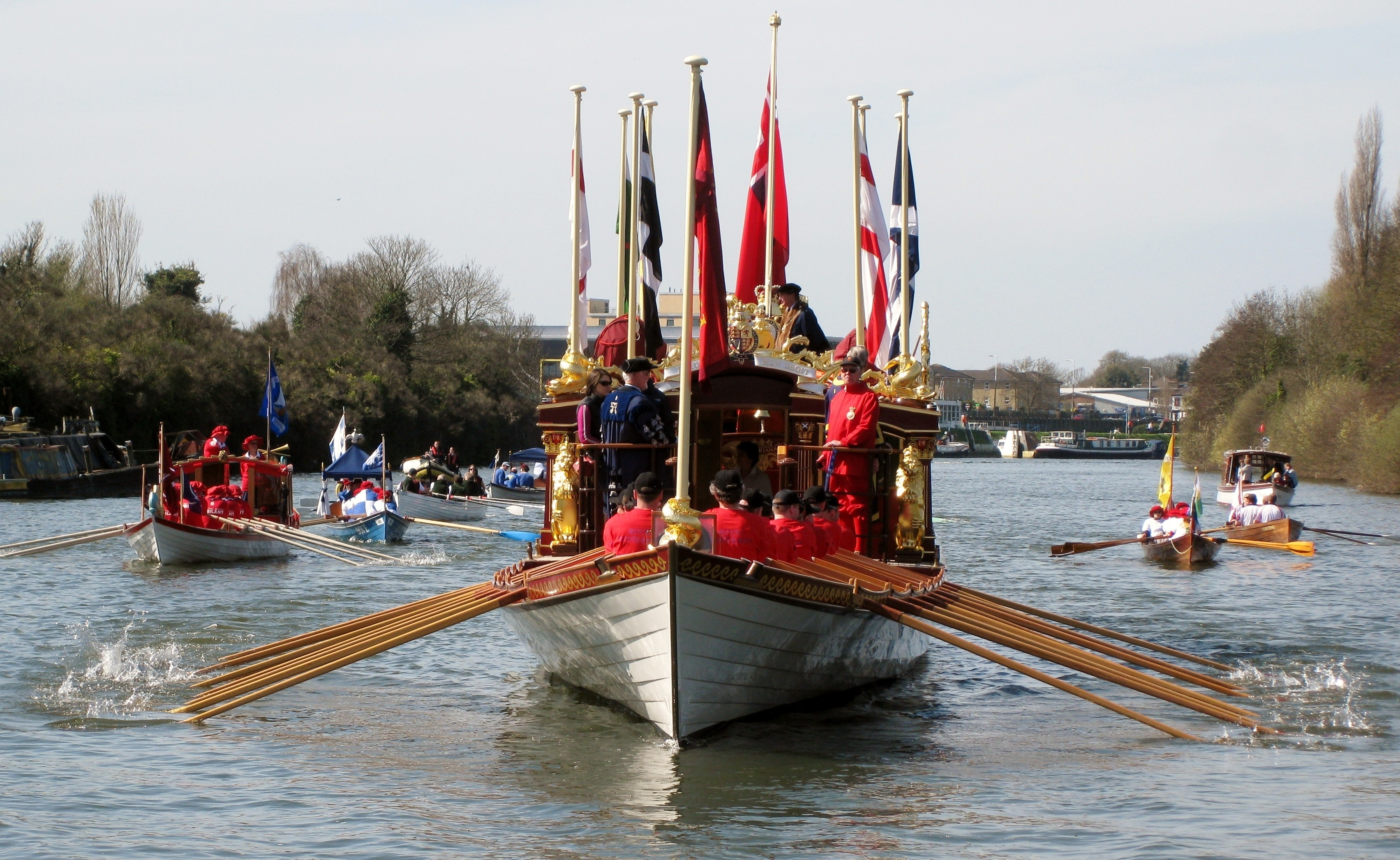 Gloriana leading the annual Tudor Pull