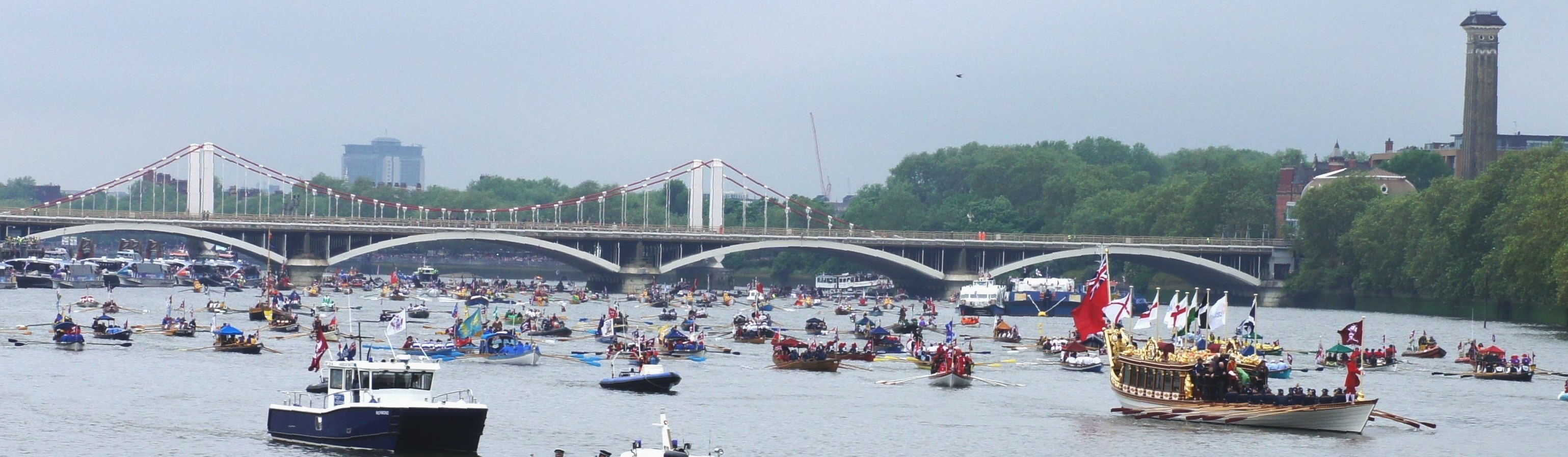 QRB leads the way in the vast river pageant