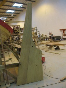 The rudder before treatment
