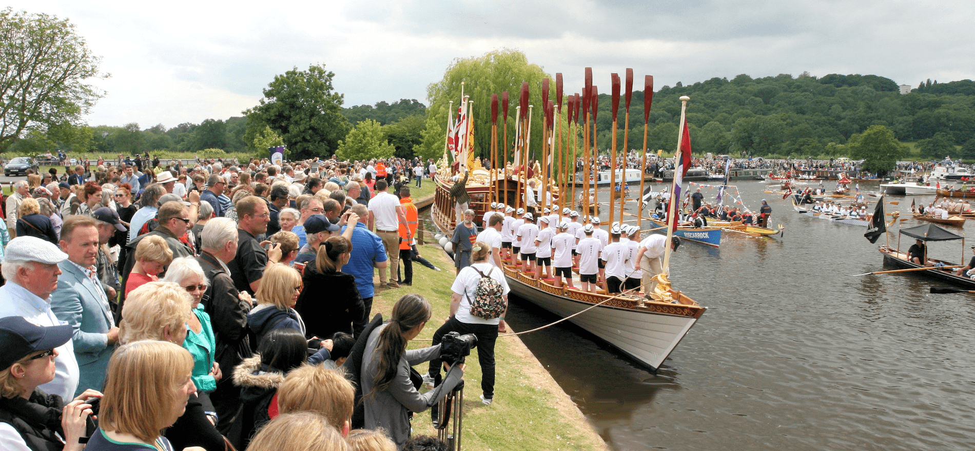 The crowds at Runnymede for Magna Carta 800th anniversary in 2015