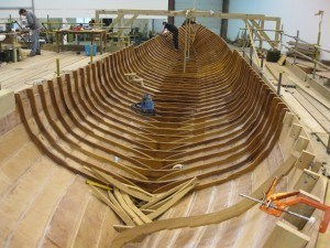 The hull is fitted with ribs
