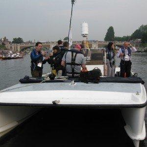The media boat