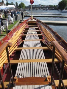 The rowing deck