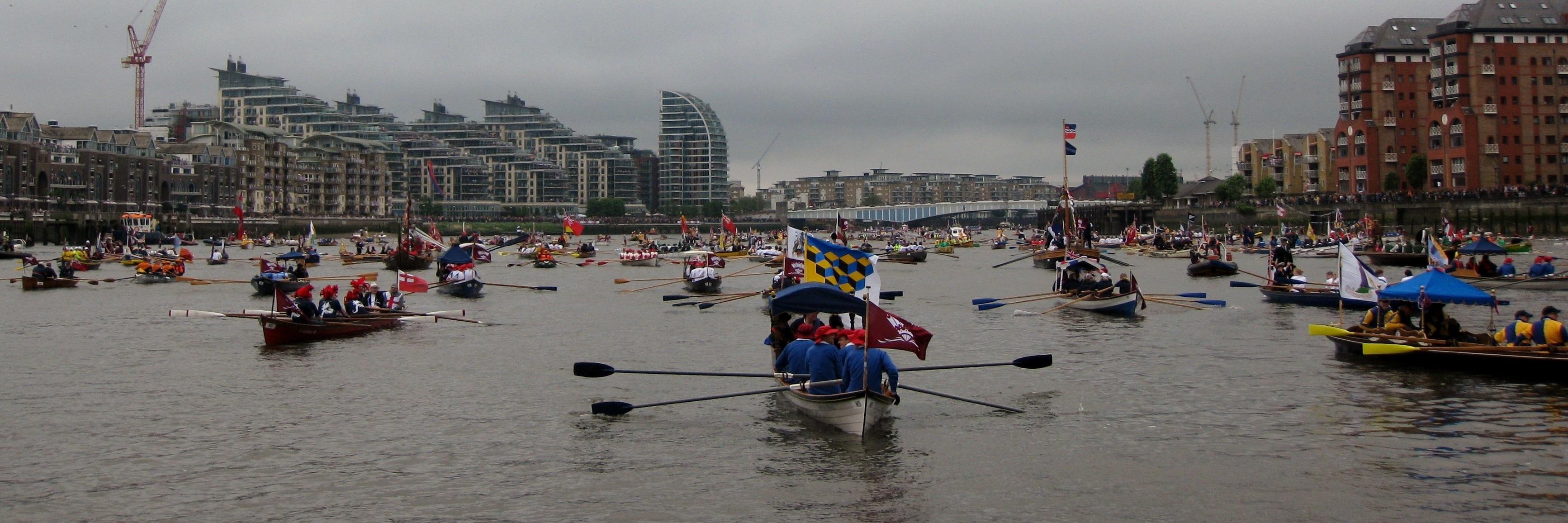 The waiting flotilla