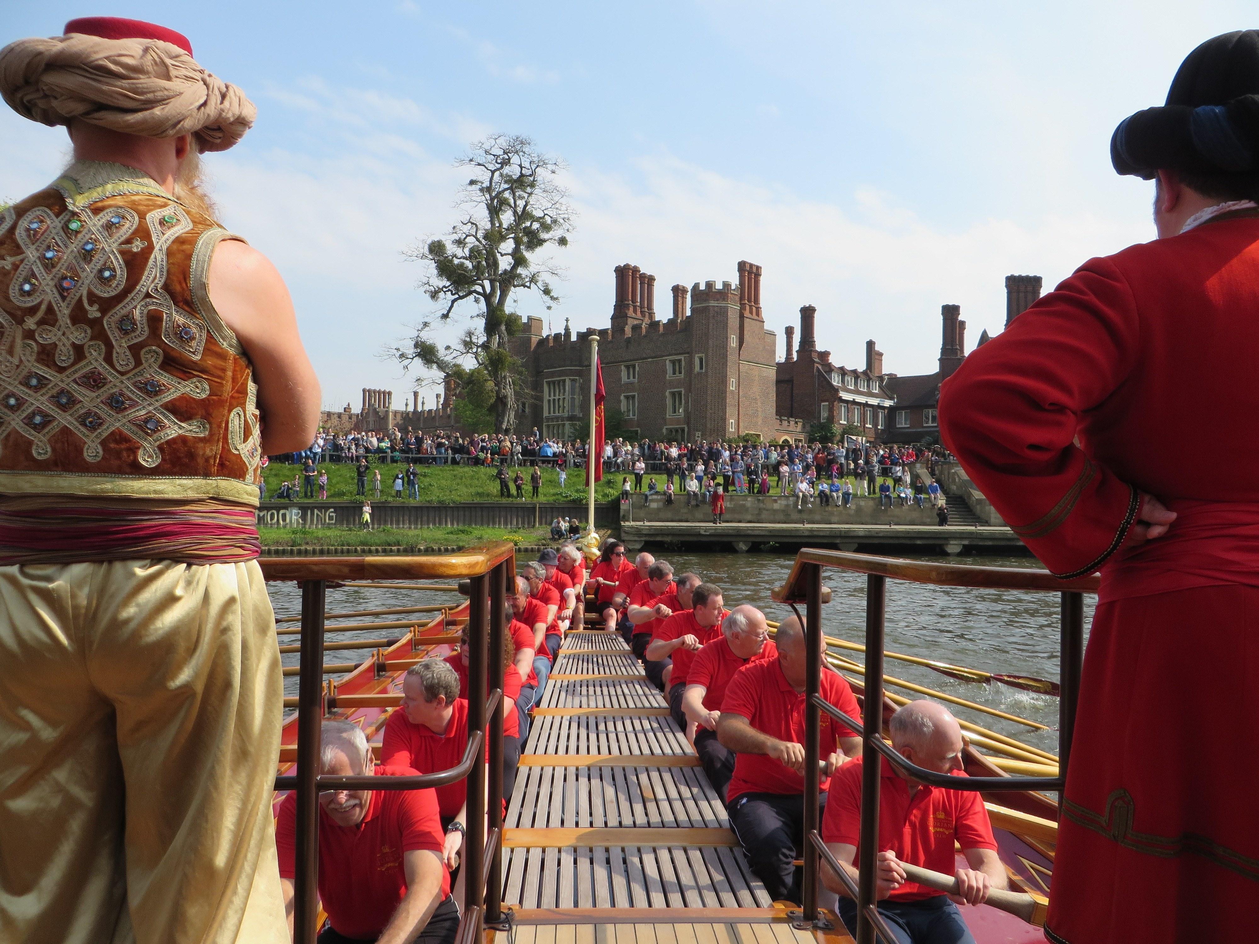 Turning to moor at Hampton Court Palace