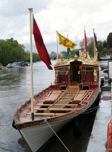 The finished Gloriana waiting for a crew