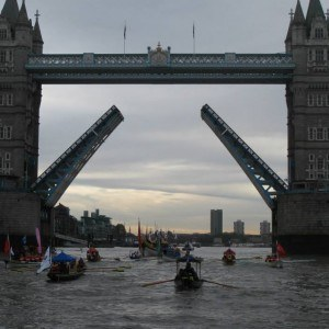 River Pageant Flotilla at Tower Bridge