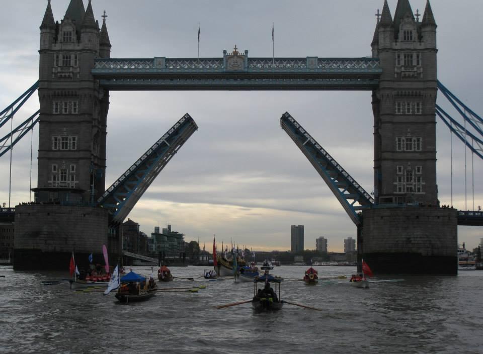 River Pageant Flotilla at Tower Bridge
