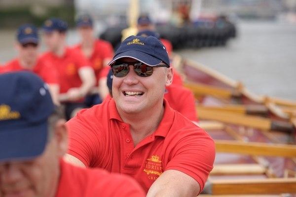 Rower Rory MacKenzie crewing the Gloriana
